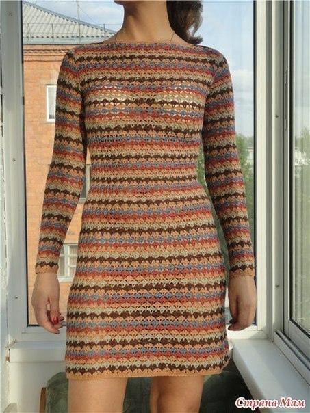 Платье крючком.