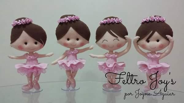 Куколки балерины из фетра