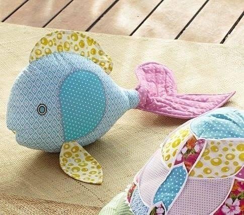 Рыбы-подушки. Идеи и выкройка.