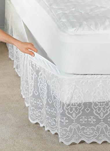 Варианты подзора (каймы) для кровати