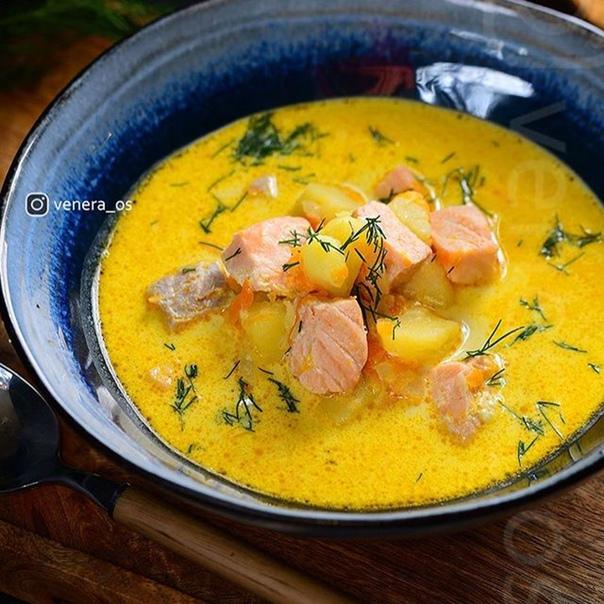 Финский сливочный рыбный суп «Лохикейто», ещё его называют уха по-фински.