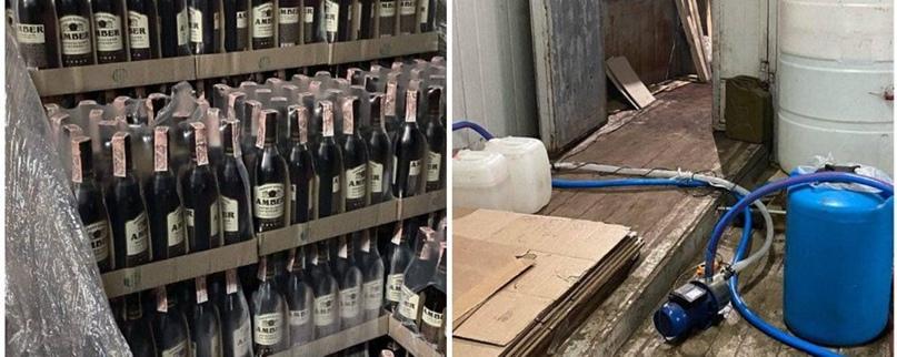 Нелегальне виробництво у центрі Харкова: силовики вилучили 16 тонн алкоголю