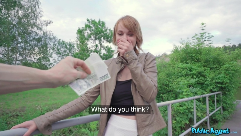 PublicAgent - Ariela Donovan - Redhead fucked in a tunnel [Рыжая,Rude,Сzech,Развод за деньги,Teen,Порно,На камеру,2020]