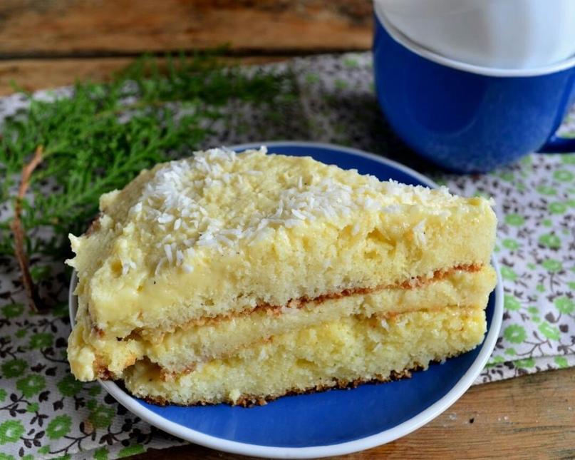 Восхитительный кокосовый торт 🍰
