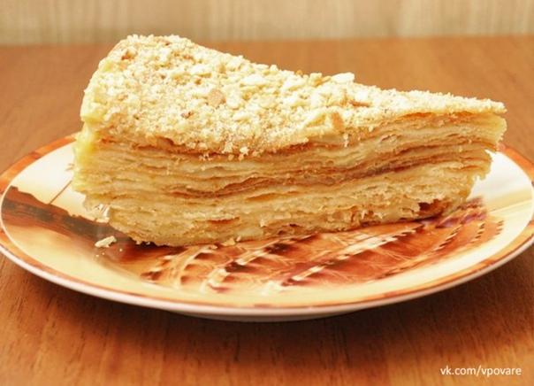 Наполеон  Ингредиенты:  Тесто: 2 яйца,  150 мл воды,  300 г...