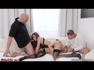 Little Caprice - We Cum To You. Part 4 Meeting In Vienna With Lena Nitro [All Sex, Hardcore, Blowjob, Group]