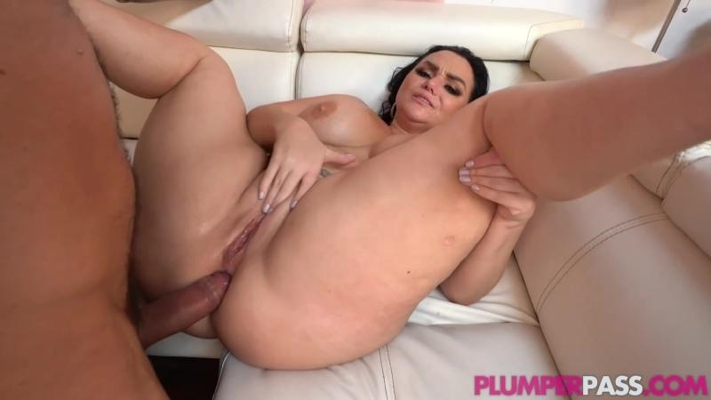 Трахнул толстую брюнетку в анал, fat bbw anal milf girl thick chubby plump boob
