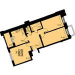 Трехкомнатные квартиры от 99,13 кв.м.