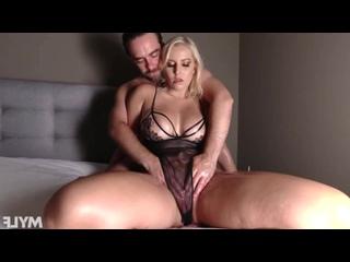 Трахнул пышную милфу, milf girl blond sex porn busty oil big tit boob ass thick curvy chubby fuck bang face love (Hot&Horny)