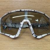 Очки ELAX широкие с вентиляцией .Мрамор серая линза