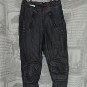 (2194)Мотоштаны кожаные, размер XXS.