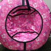 ватрушка 100см розовые цветы