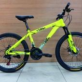 "Велосипед VELTORY 4008 SCAT Disc (2021) 24"" Жёлтый NEON"