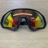 Очки ELAX широкие с вентиляцией. Черные Зеркальная линза