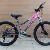 """Велосипед COM GT-2407L Алюминий, Disc (2021) 24"""" Розовый/Серый"""