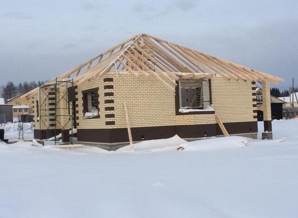 Как я строил одноэтажный загородный дом прошлой зимой