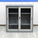 Шкаф металлический со стеклом AIKO 880х410х880