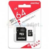 Карта памяти SmartBuy microSDXC Class 10 64GB