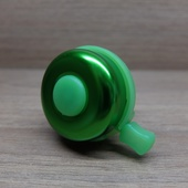 Звонок велосипедный Зелёный металл/пластик