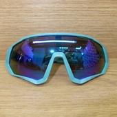 Очки ELAX широкие с вентиляцией Голубые синяя линза