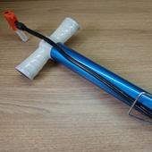 Насос напольный с шлангом синий