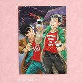 А4 постер-открытка - Куроо и Бокуто