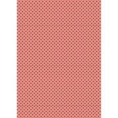 Фон Розово-чёрный горошек, бумага для меренги переводная
