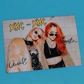 Плакат «кис-кис» с автографами