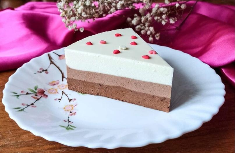Муссовый торт «Три шоколада» без выпечки