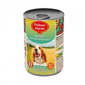 РОДНЫЕ КОРМА консервы для собак жареха мясная по-двински 970г