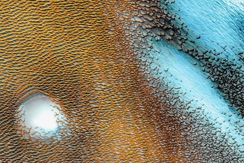 Синие дюны Красной планеты