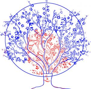 Рисуем вишнёвое дерево