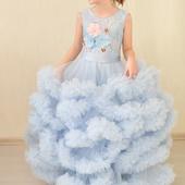 Платье облако голубое