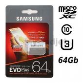 Карта памяти Samsung EVO Plus microSDXC 64GB + адаптер
