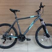 "Велосипед TRINX М136 26"" (2020) Серый/Бирюза/Чёрный"