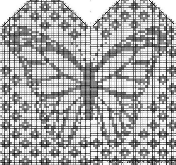 Варежки с бабочками ????