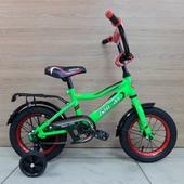 """Велосипед Байкал-Л1203 12"""" Зелёный/Красный/Чёрный"""