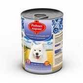 РОДНЫЕ КОРМА консервы для собак говядина с потрошками в желе по-купечески 970г