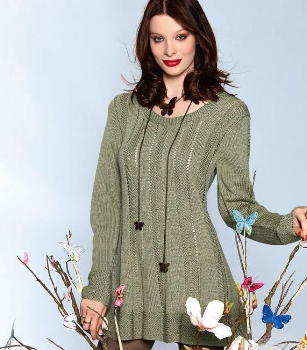 Полное описание вязаного платья. На заметку
