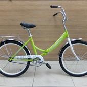 """Велосипед FORWARD VALENСIA 24 1.0 складной (2021) 24"""" Салатовый"""