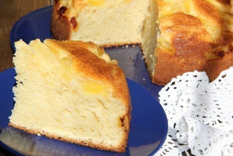 Творожный пирог с ананасами от Вероники Крамарь.