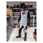 Костюм для мотокросса, эндуро, серо-чёрный (джерси и штаны)