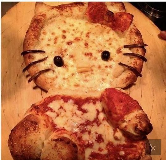 Пицца в виде кошки. И неважно, что ты...