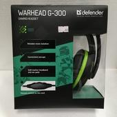 Наушники Defender Warhead G-300 зеленый, кабель 2,5 м