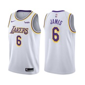 2021-22 Los Angeles Lakers LeBron James #6 Association Edition White Jersey