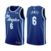 2021-22 Los Angeles Lakers LeBron James #6 Classic Edition Blue Jersey