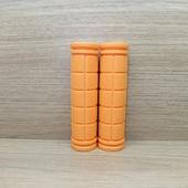 Грипсы (ручки) цветные универсальные. (1пара) Оранжевые