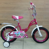 """Велосипед Кумир К1402 KL02 (2021) 12""""Розов/Белый"""