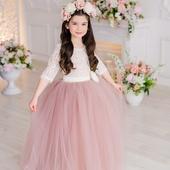 """Платье """"Пыльная роза"""" для девочек"""