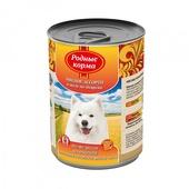 РОДНЫЕ КОРМА консервы для собак мясное ассорти в желе по-боярски 970г